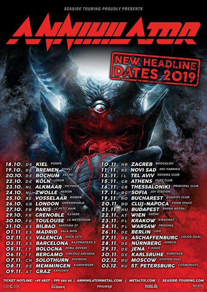 Annihilator Tour Poster 2019