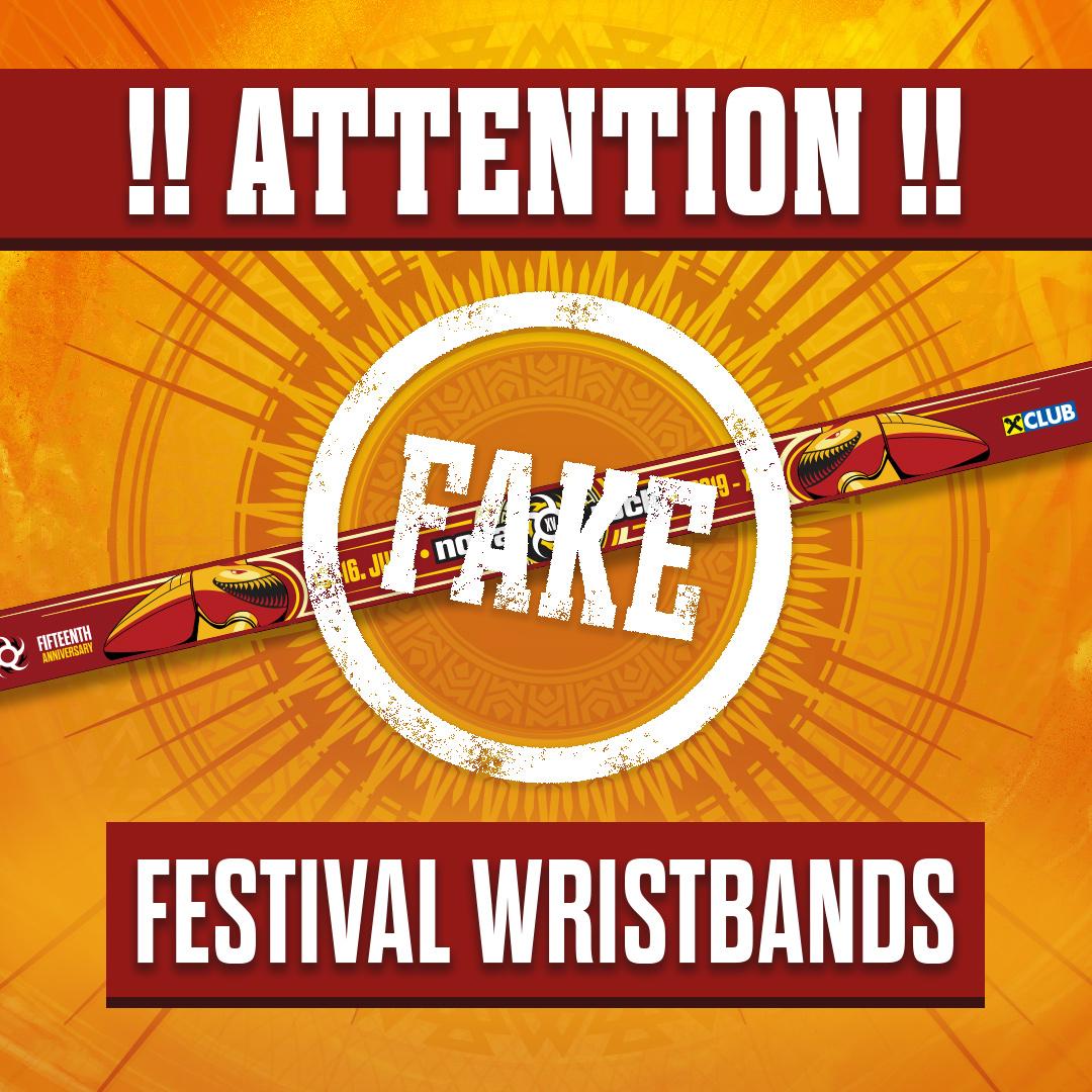Nova Rock 2019 - Fake Festival Wristbands